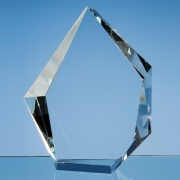 20cm Optic Crystal Facet Iceberg Award