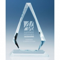 8in CrystalEdge Clear Windsor Diamond Award