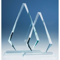10in CrystalEdge Clear Windsor Diamond Award